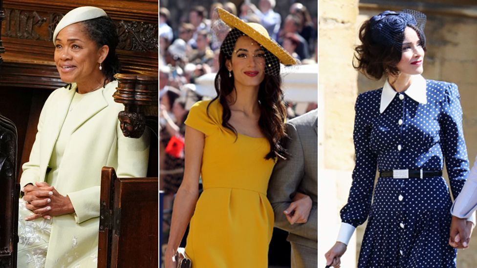 royal wedding who wore what on harry and meghan s big day bbc news