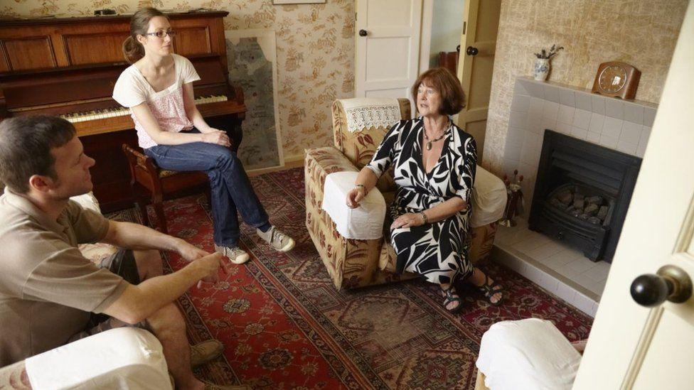 Sylvia Hall giving a tour of Paul McCartney's childhood home