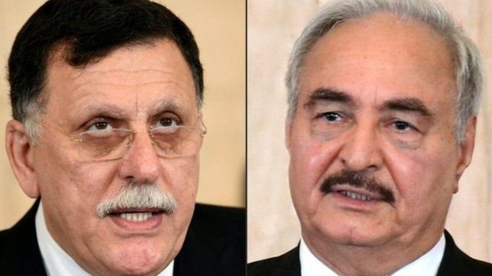 """ليبيا: فايز السراج رئيس الحكومة المعترف بها يدين """"صمت"""" الحلفاء الدوليين في مواجهة زحف قوات خليفة حفتر على طرابلس"""