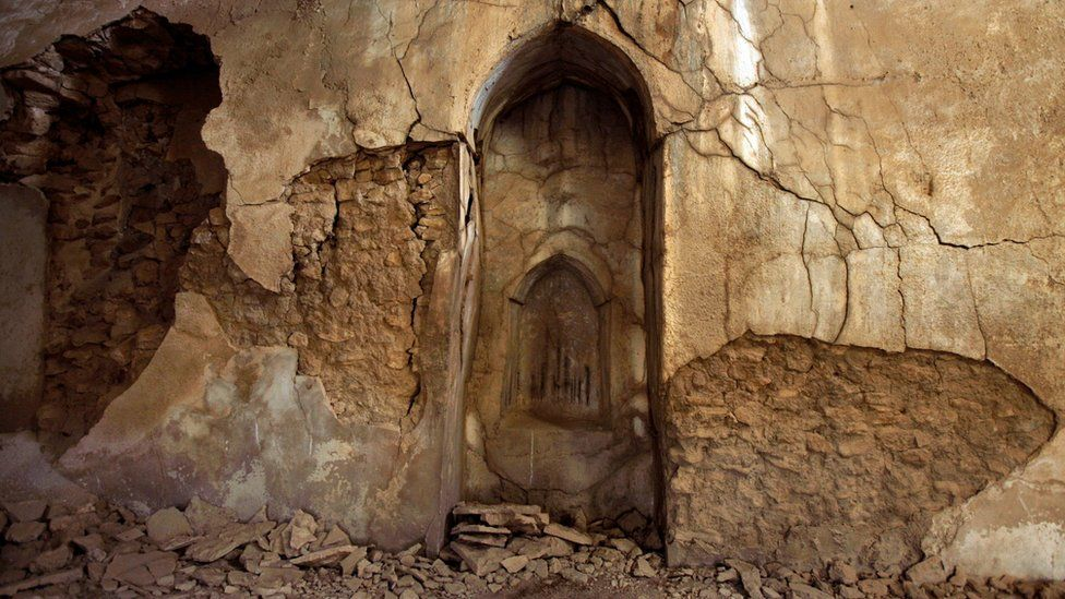 Sanctuary of St Elijah's Monastery near Mosul, Iraq (7 November 2008)