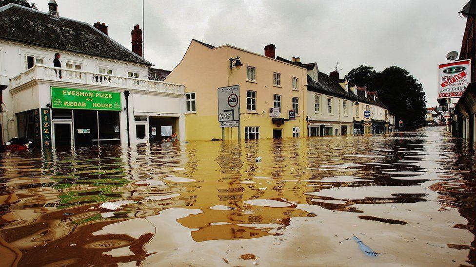 Flooded Evesham