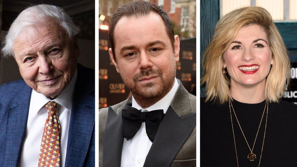Sir David Attenborough, Danny Dyer and Jodie Whittaker