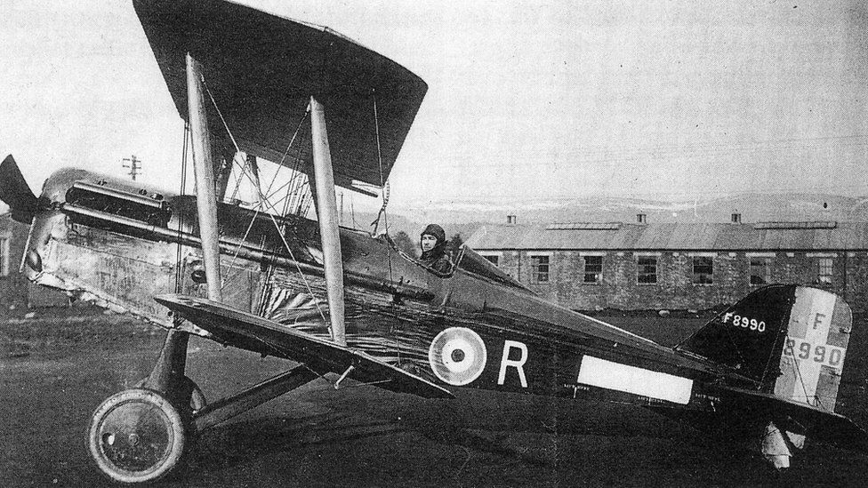 One of the SE 5a planes flown by the pilots of No 74 Squadron