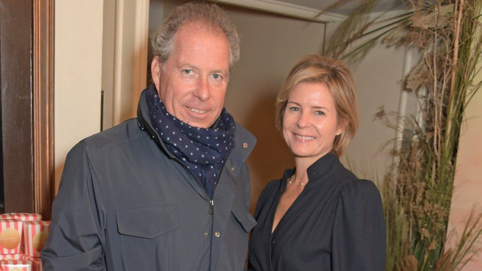 """David Armstrong-Jones, 2nd Earl of Snowdon and Serena Armstrong-Jones, Countess of Snowdon attend the London Premiere of Apple's acclaimed documentary """"The Elephant Queen"""" on October 17, 2019"""