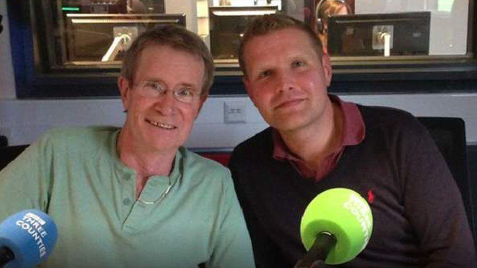 Stephen Rhodes with Jonathan Vernon-Smith