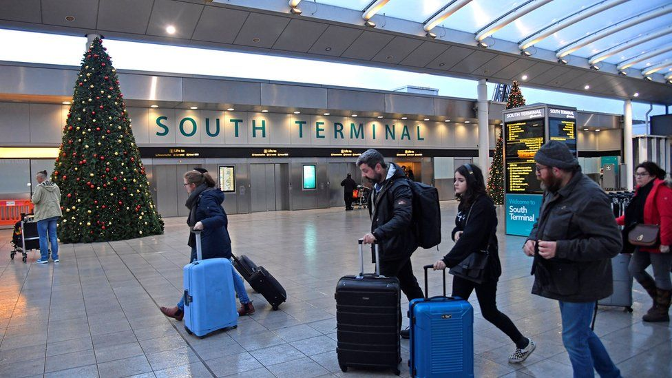 Passengers at Gatwick Airport