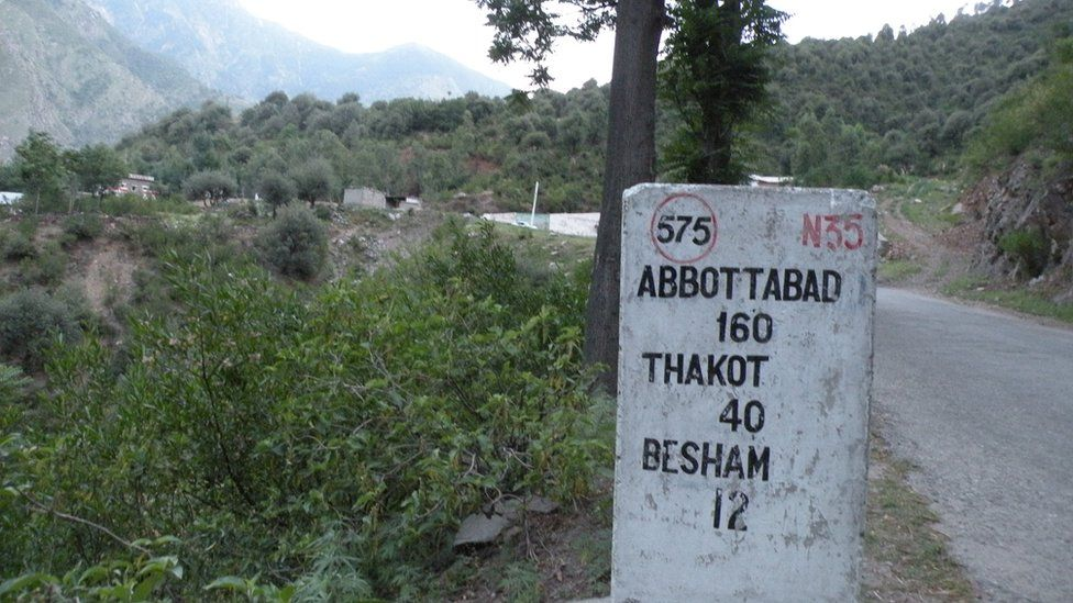 A milestone in the remote Kohistan region