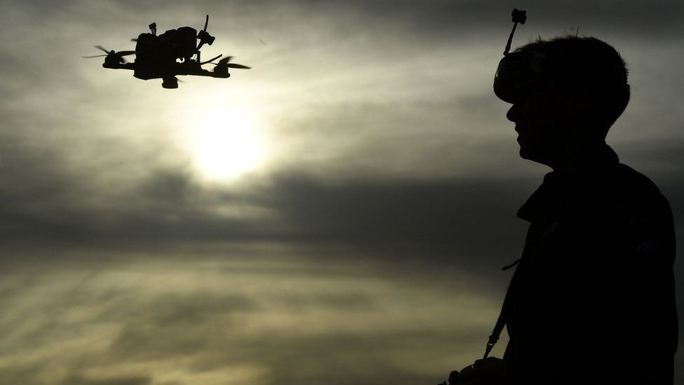 A drone pilot