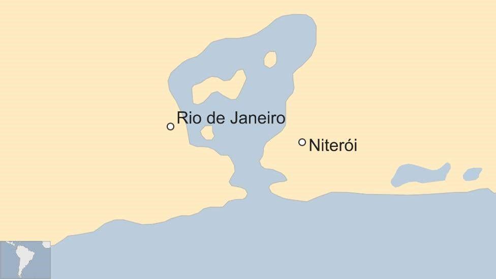 Map of Niterói and Rio