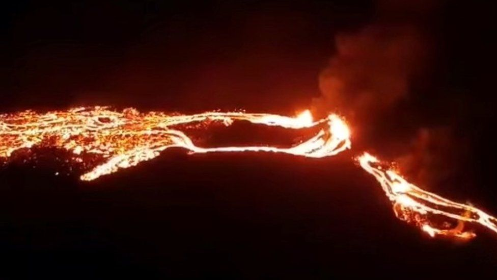 Iceland reports a volcanic eruption near the capital of Reykjavík