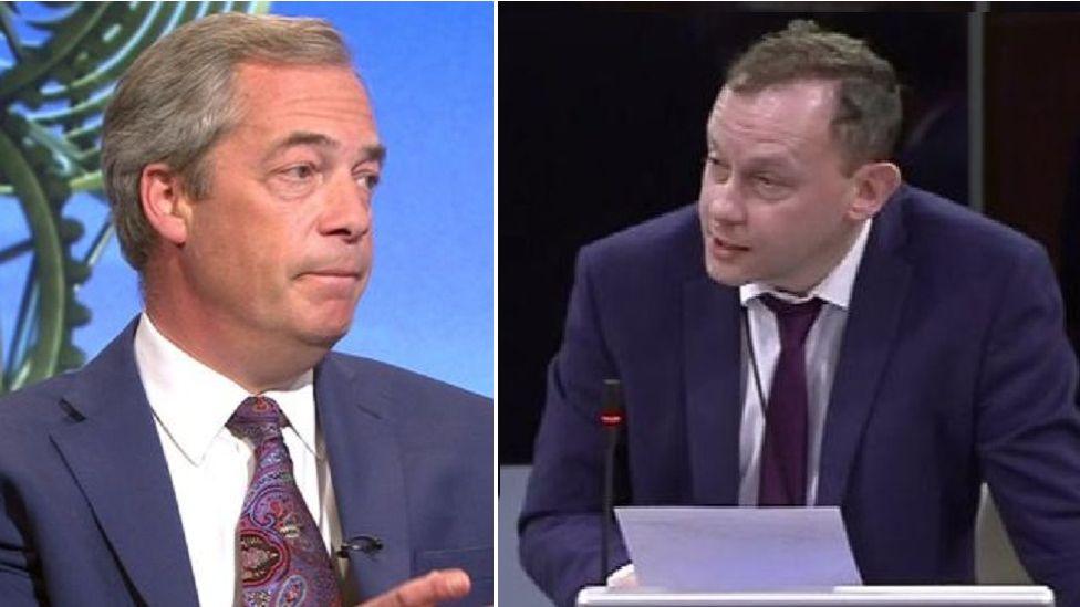 Nigel Farage and Gareth Bennett