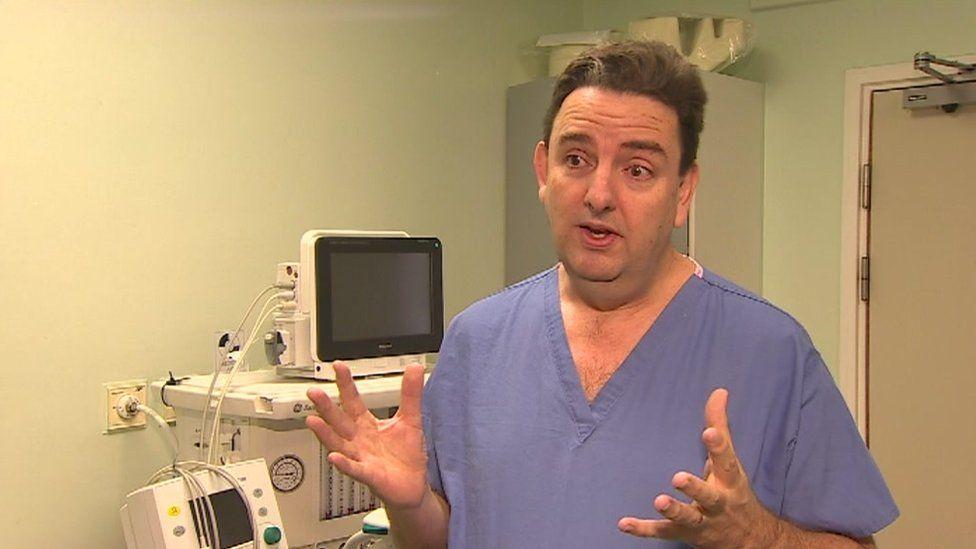 Consultant anaesthetist Dr Neil Agnew