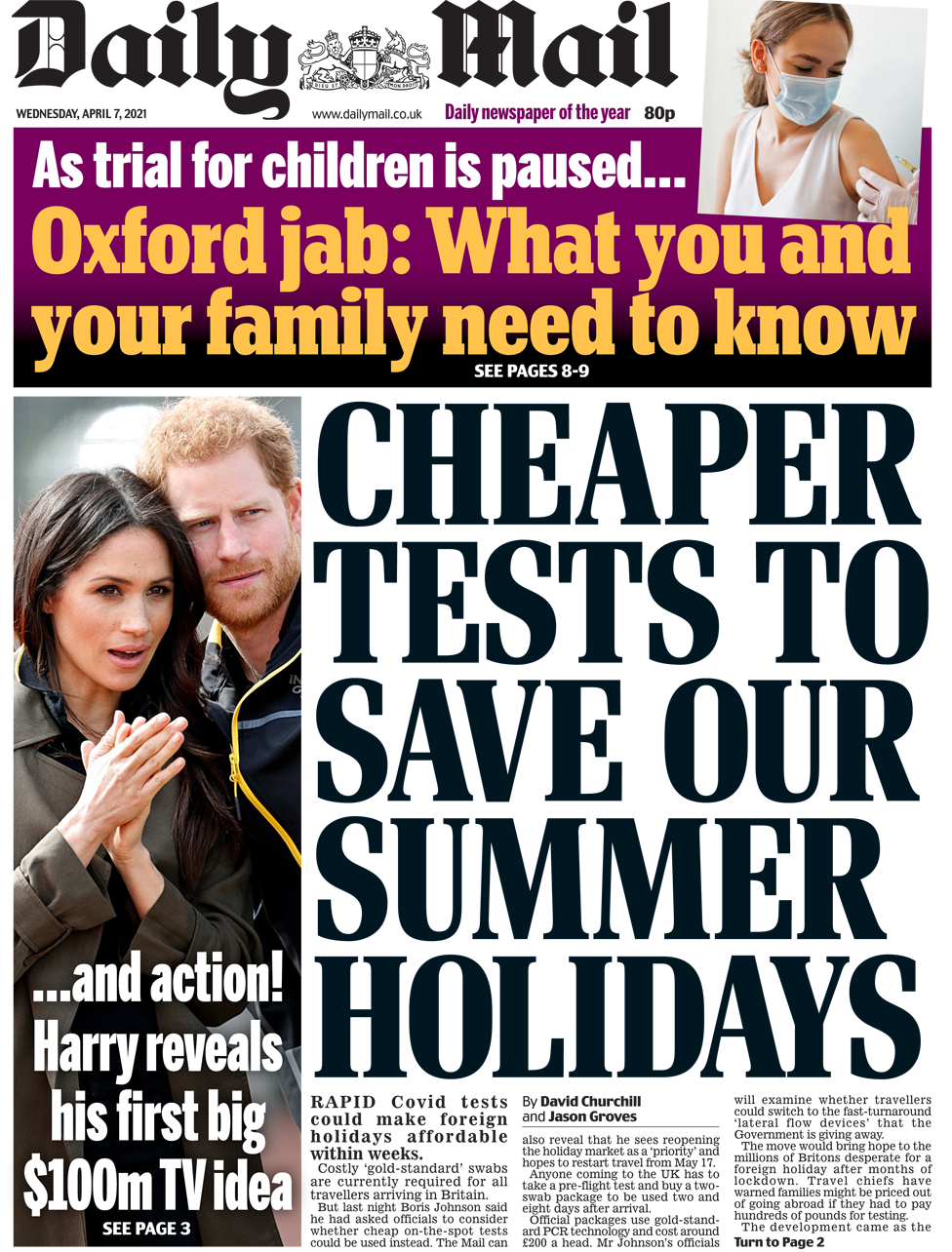 Daily Mail Wednesday