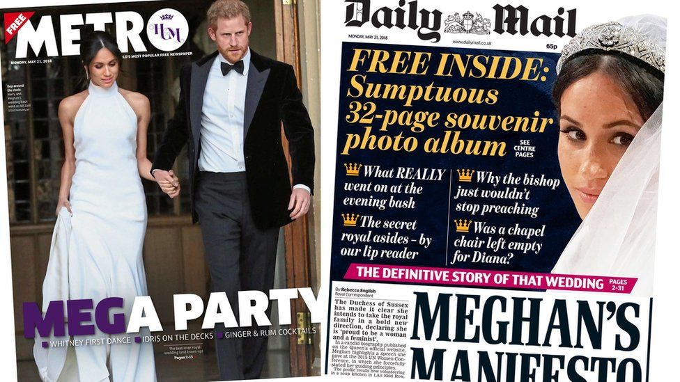 Metro and Daily Mail
