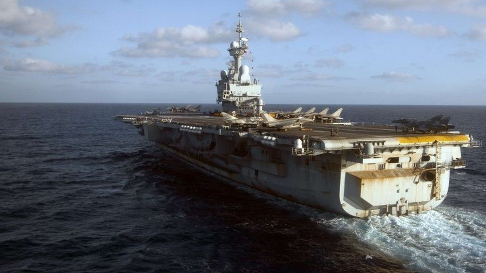 France's Charles de Gaulle aircraft carrier (file picture)