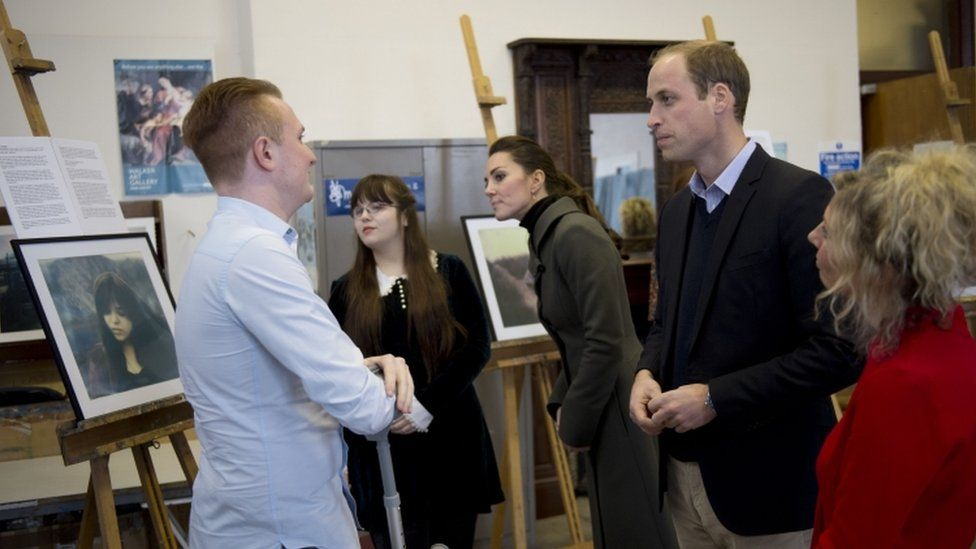 Duke and Duchess of Cambridge visit a photographic exhibition