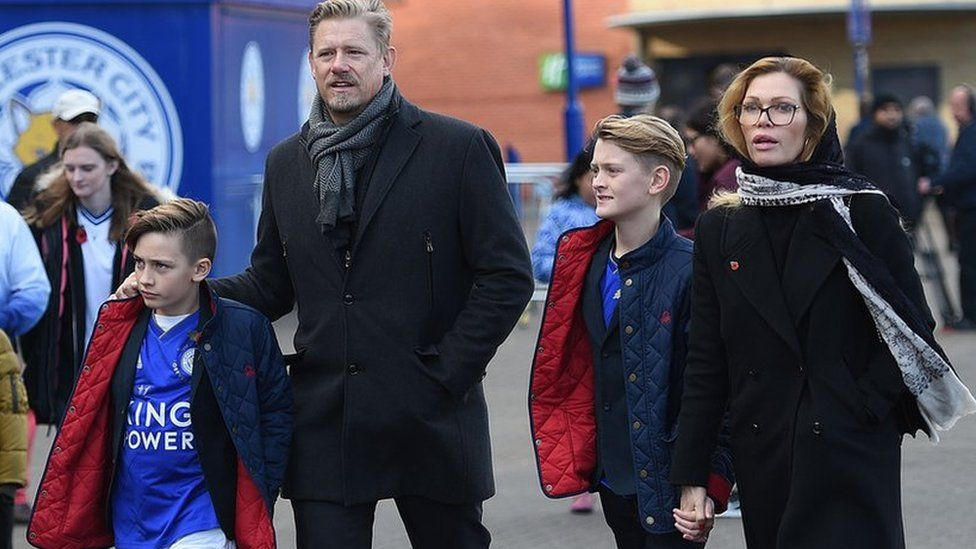 Peter Schmeichel and his family