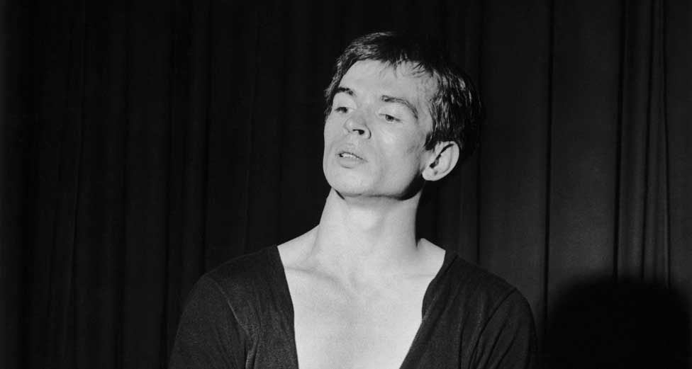 Nureyev pictured while performing with the Kirov Ballet in 1960