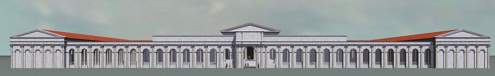Computer generated artist's impression of the Roman Arcade