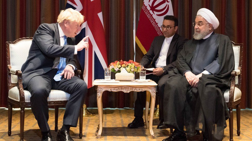 Boris Johnson and Hassan Rouhani