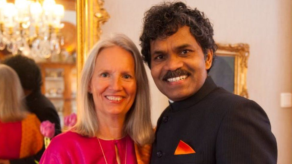 PK Mahanandia and Charlotte Von Schedvin in 2014