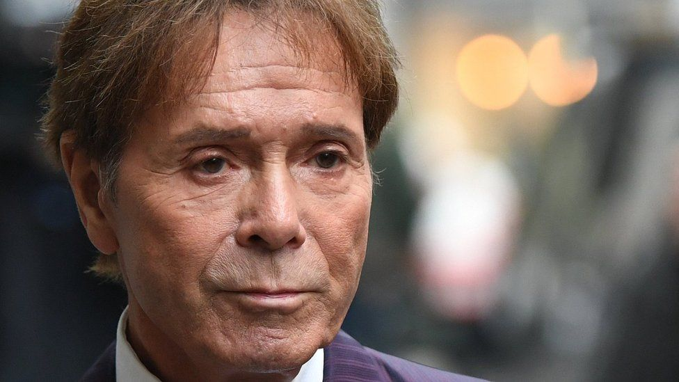 Sir Cliff Richard arriving at High Court on 12 April 2018