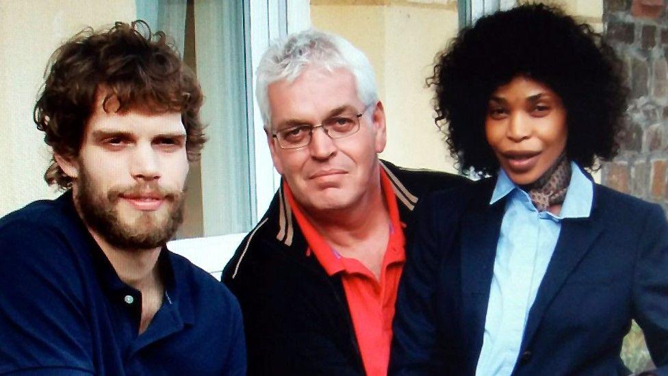 Mark van Dongen his father Kees van Dongen and Berlinah Wallace