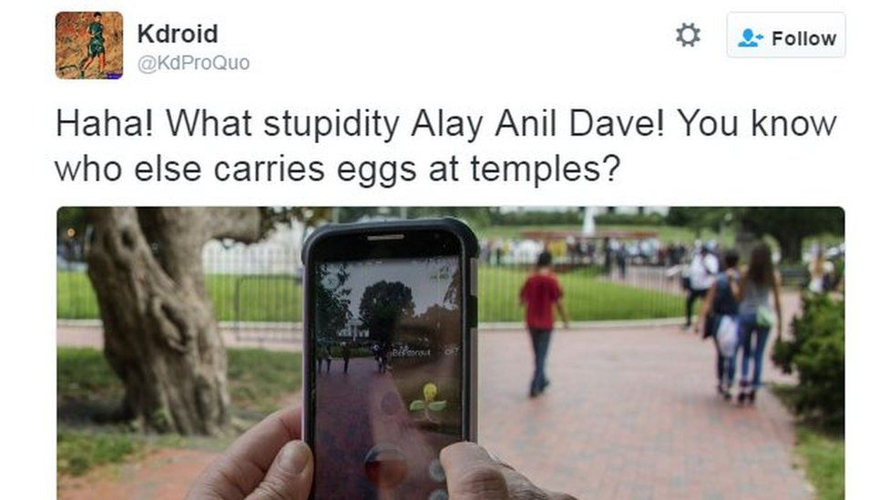Haha! What stupidity Alay Anil Dave! You know who else carries eggs at temples?