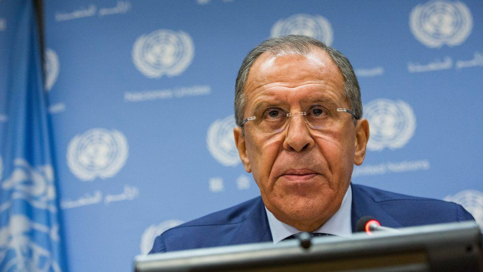 """The surname of Sergey Lavrov, Russia's Foreign Minister, was translated to """"sad little horse"""""""