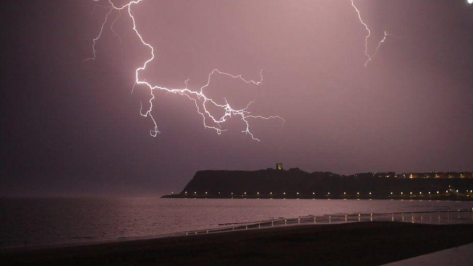 Lightning over Scarborough