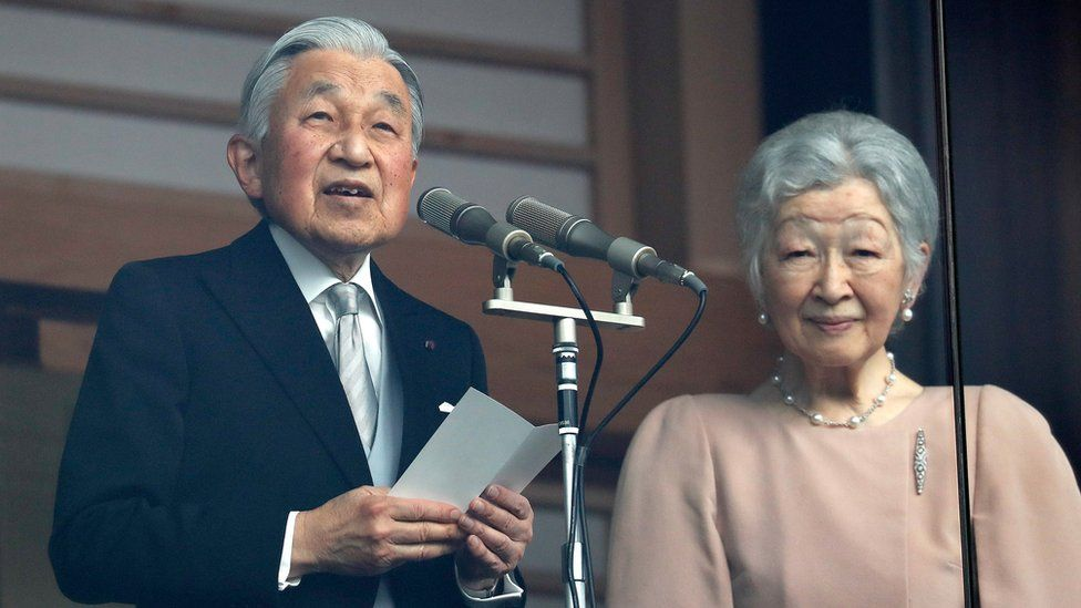 Emperor Akihito delivers his last birthday address alongside his wife Empress Michiko
