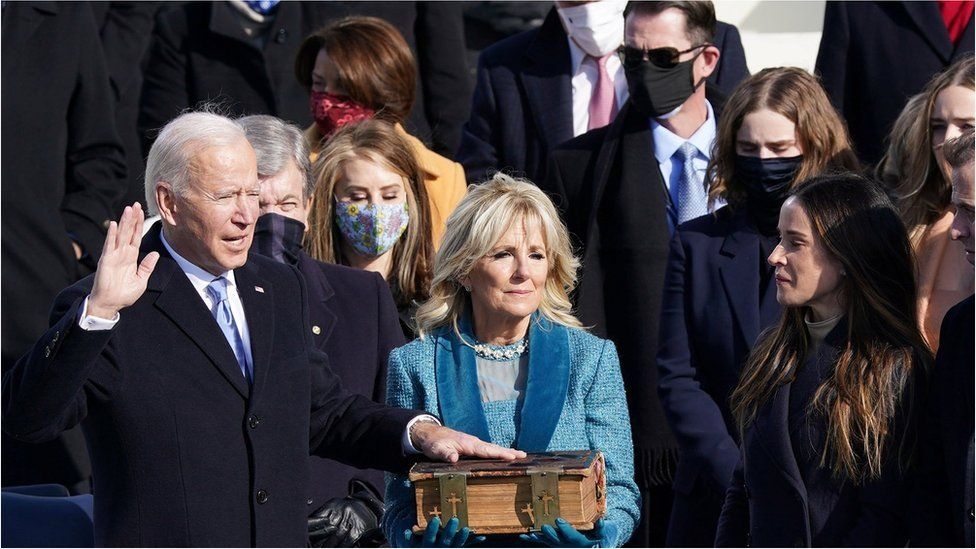 Joe Biden is sworn in