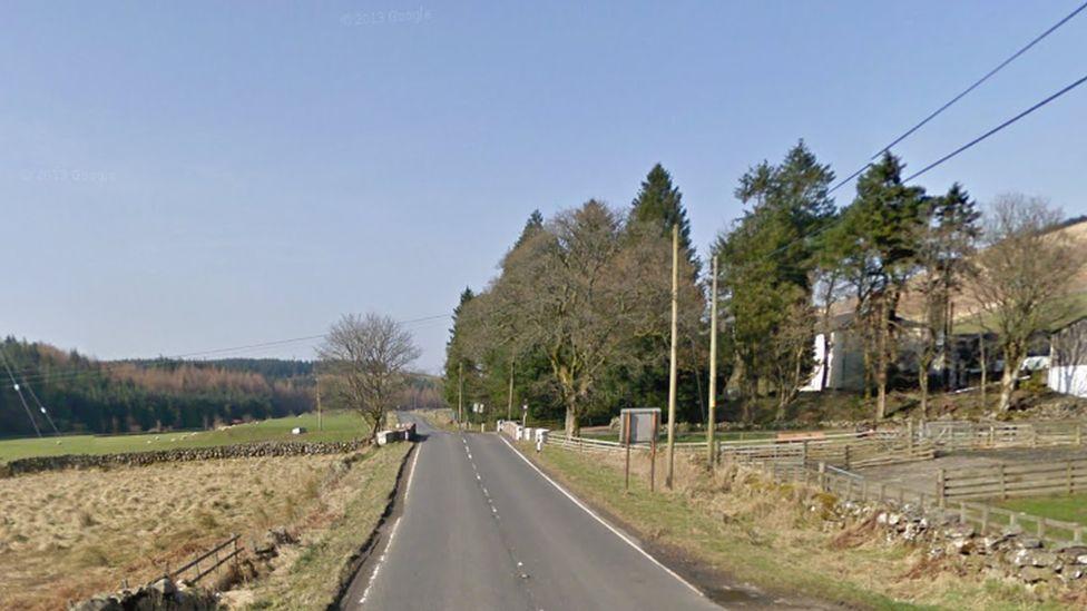 A713 south of Mossdale Farm near Dalmellington