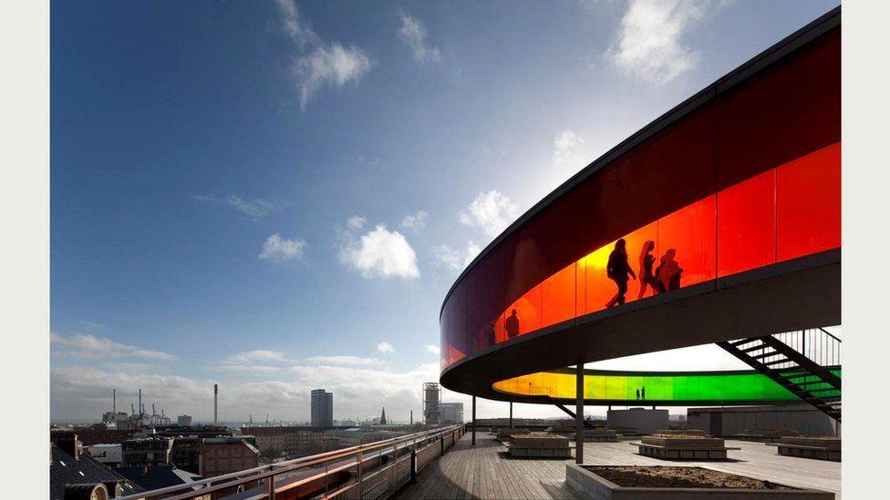 Музей искусств ARoS Aarhus Kunstmuseum в Орхусе (Дания)