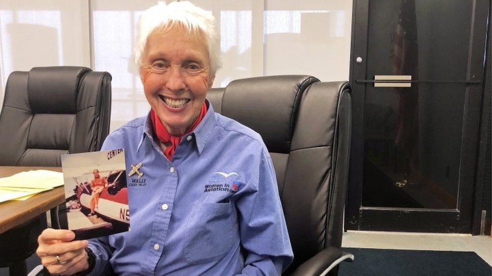Wally Funk, a Virgin Galactic ticketholder and one of the First Lady Astronaut Trainees