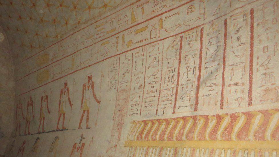 Paintings inside the pyramids