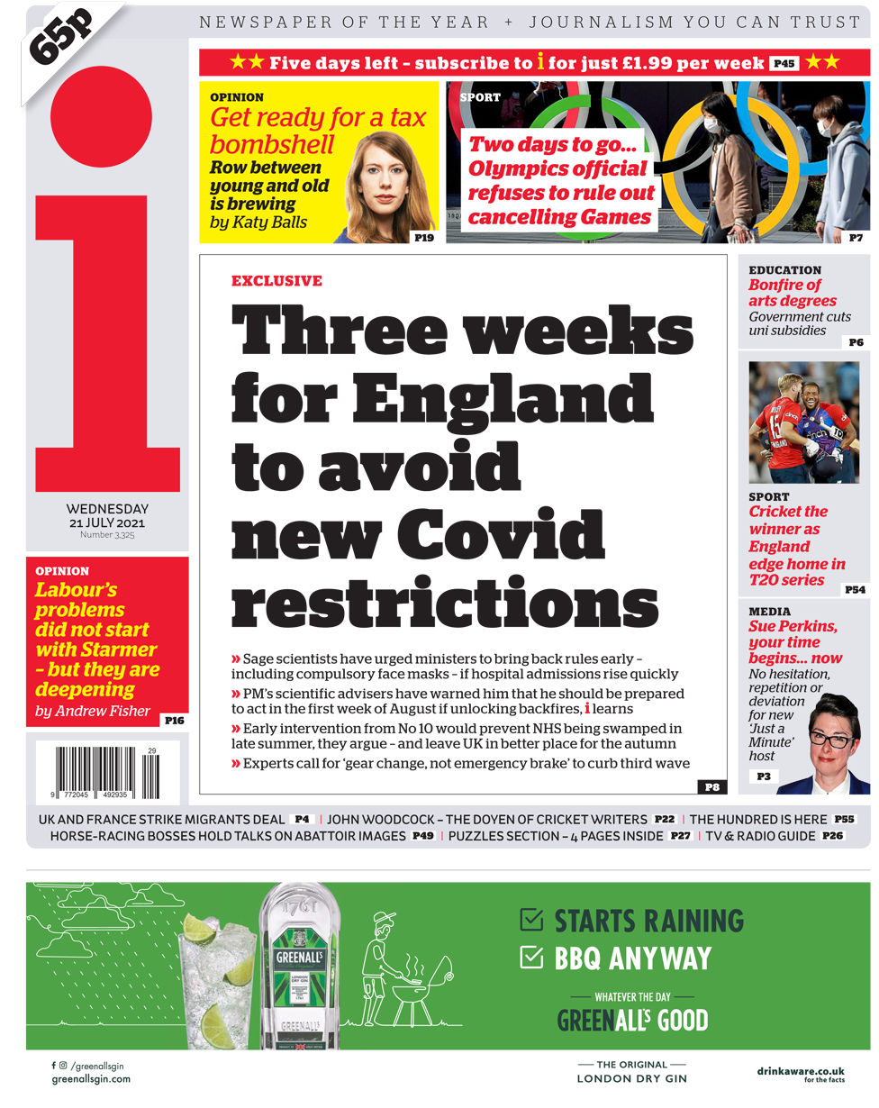 i front page 21/07/21