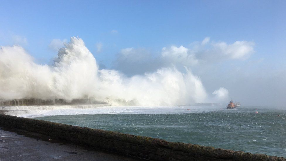 Waves caused by Storm Eleanor