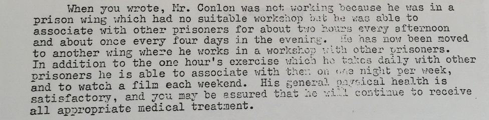 Reply to NI Civil Rights Association from a C Farrington at the Home Office on 24 June 1976
