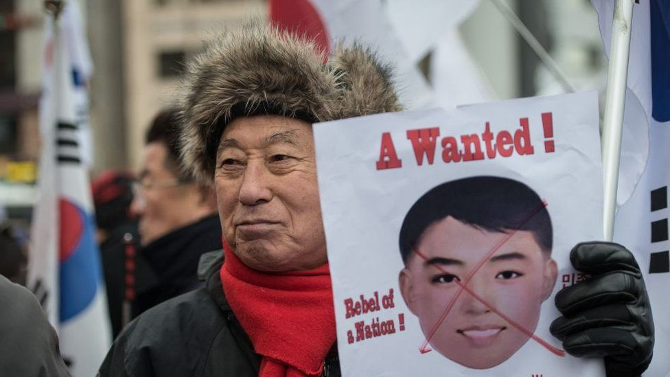 Conservative groups in South Korea have protested against the masks