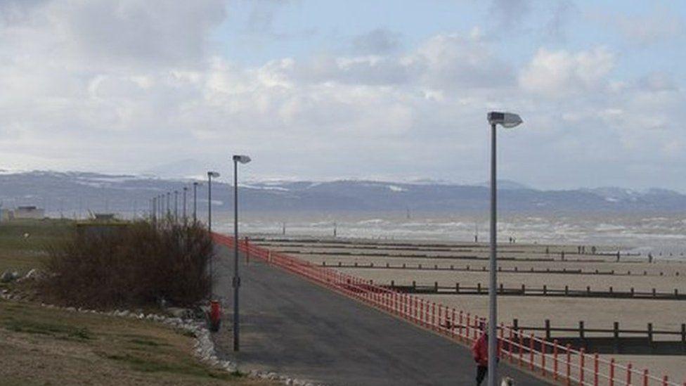Rhyl beach front