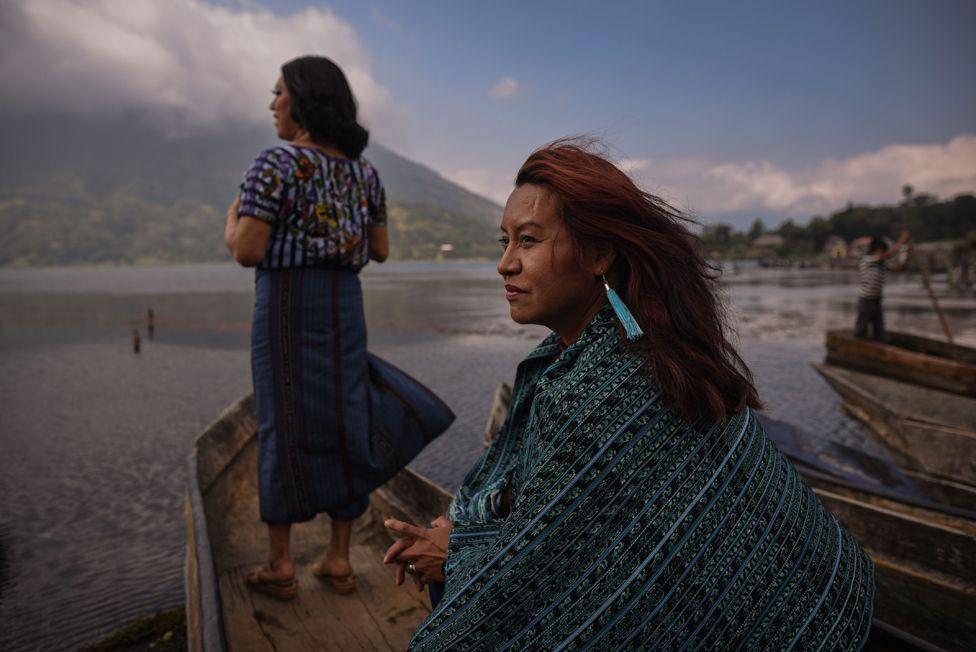 A portrait of Maria Alejandra and Kristel, Santiago Atitlán, Guatemala.