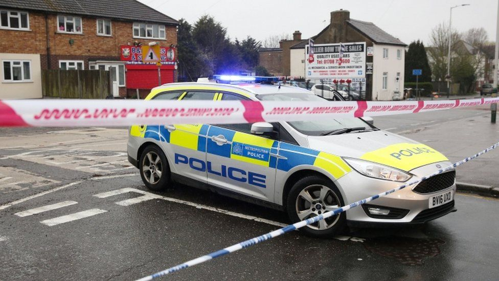 Police cordon in Romford