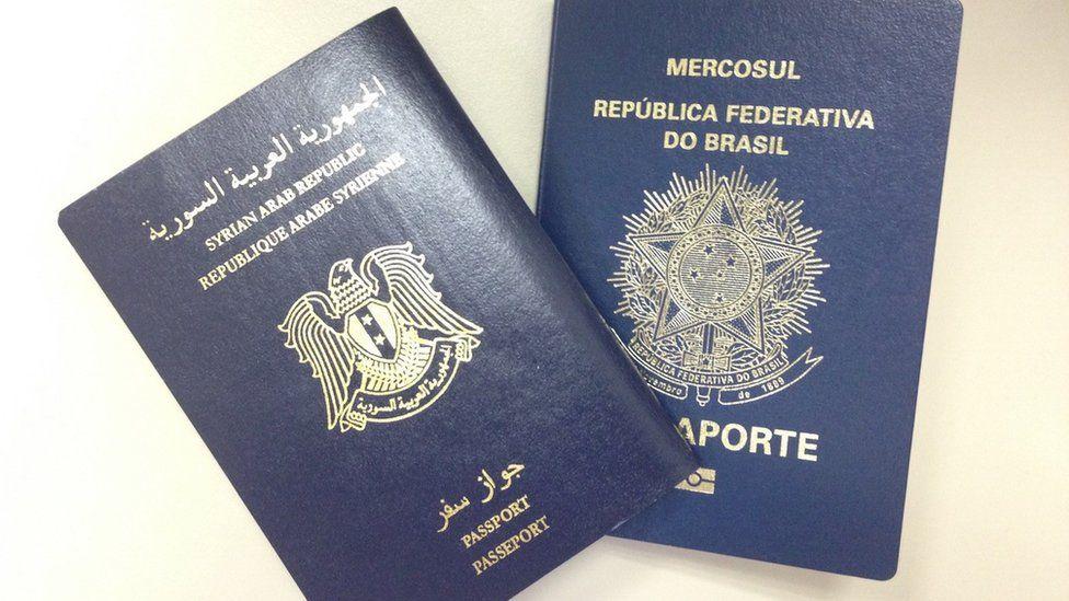 Brazilian and Syrian passports