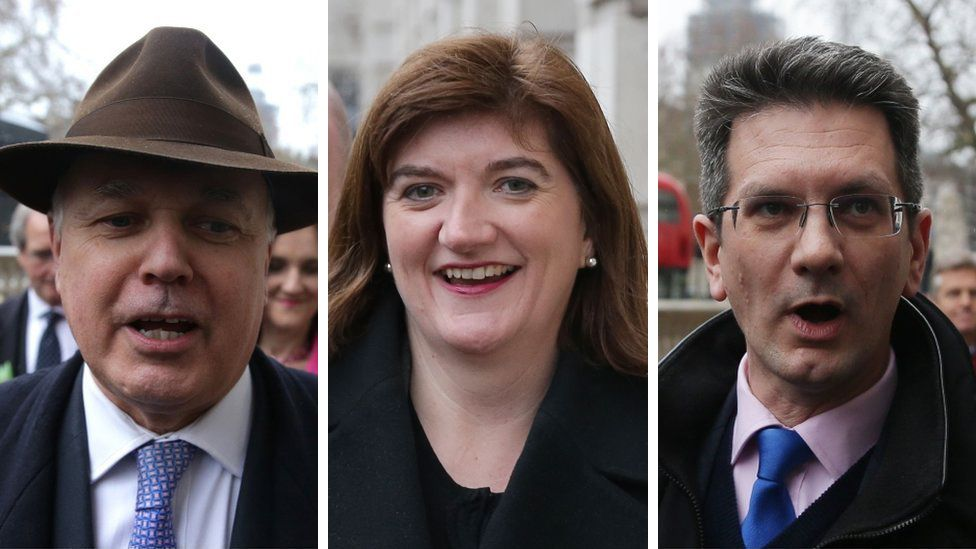 Tory MPs Iain Duncan Smith, Nicky Morgan and Steve Baker