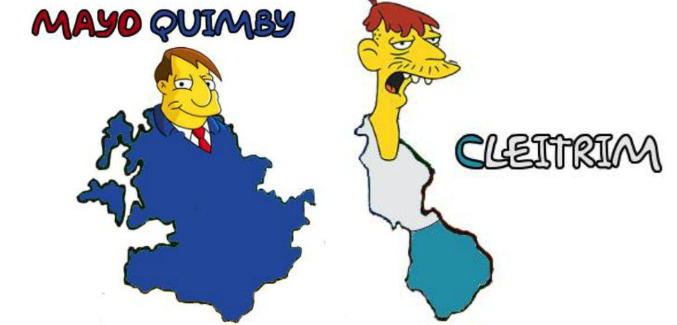 Simpsons characters as Irish counties