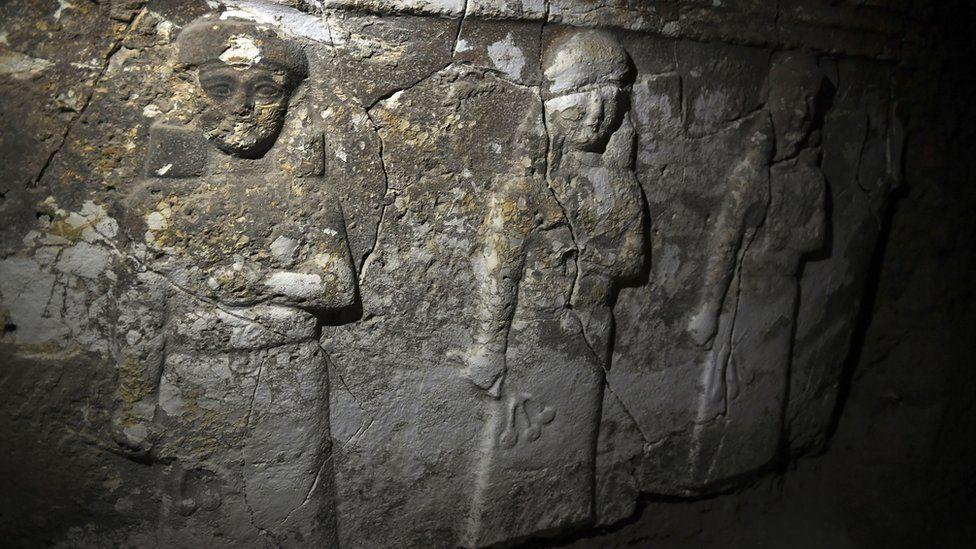 Treasures found inside tunnels dug by IS at Nebi Yunus
