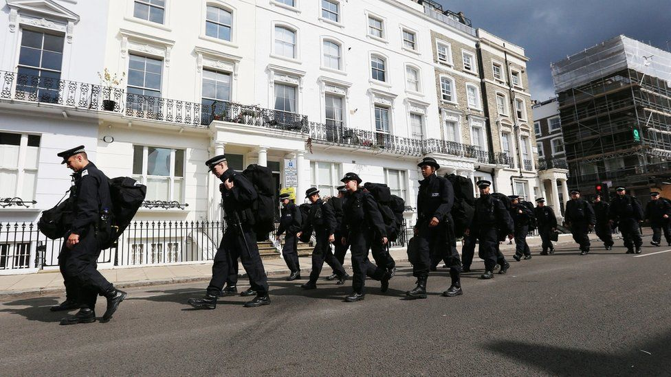 Police in Chepstow Road, London