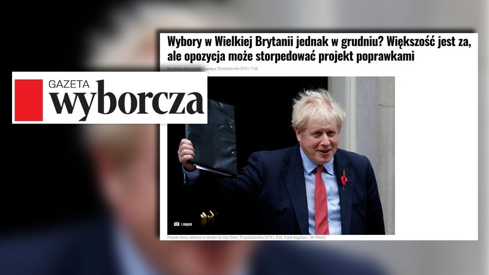 Screengrab from Polish newspaper Gazeta Wyborcza