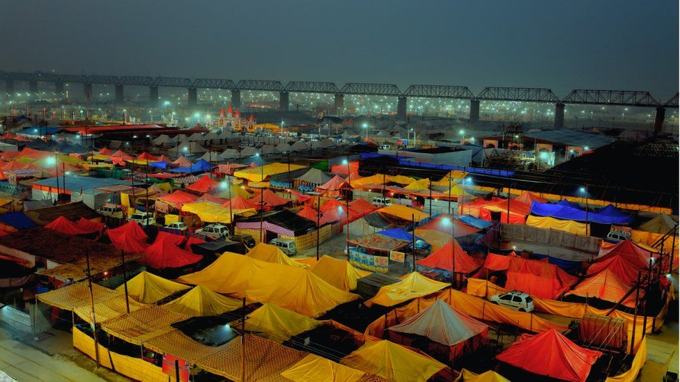 Tents in the Kumbh Mela grounds